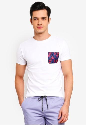 Penshoppe white T-Shirt With Pocket 447E5AAD6C7654GS_1