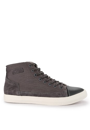 Urban State grey Suede Lace Up High Top Sneakers BFEFDSH8508EE9GS_1