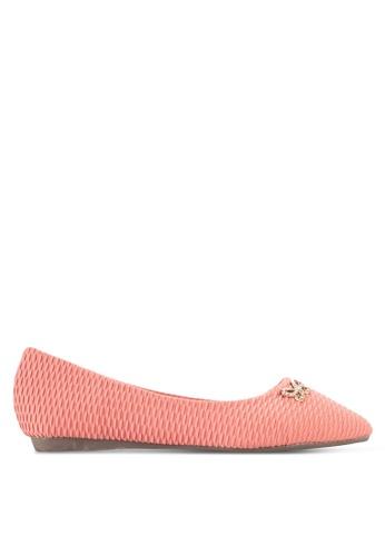 Spiffy 粉紅色 尖頭平底鞋 SP352SH13FEGMY_1