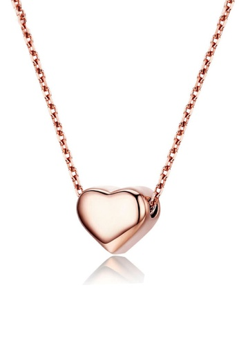 CELOVIS gold CELOVIS - Amora Love Heart in Rose Gold Pendant Necklace BED46AC67BDA24GS_1