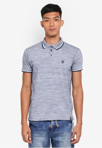 Indicode Jeans 藍色 Conley Tipped Polo Shirt CF252AAF4BAAA2GS_1
