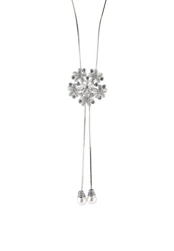 Megane silver Verbena Rosil Necklace D49A8ACA673B67GS_1