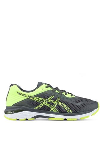Asics grey GT-2000 6 Lite-Show Shoes AS989SH0SVSKMY_1