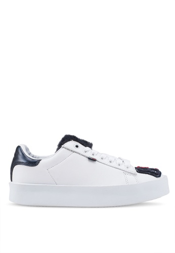 Tommy Hilfiger white FUN RETRO LIGHT SNEAKER E26D7SHA8294B8GS_1