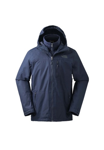 52197072d The North Face Men Keeru Triclimate Jacket Navy Winter Jacket
