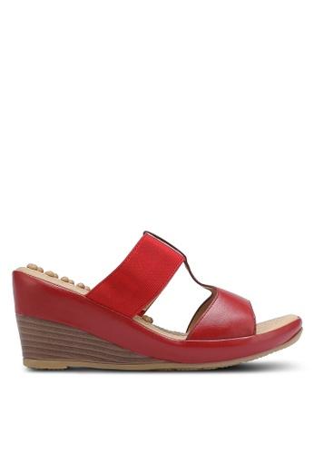 Bata 紅色 Comfit Wedges BA156SH0RCVNMY_1