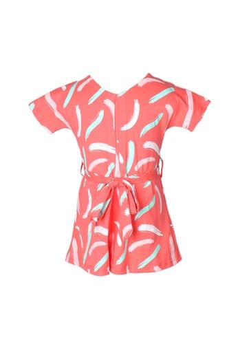Mini Moley pink Pastel Paint Brush Print Girl's Flare Dress E4CC1KA8F2C6ECGS_1