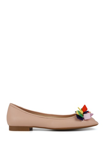 Miomia 粉紅色 膠片方頭平底鞋 0400CSHEB9F374GS_1