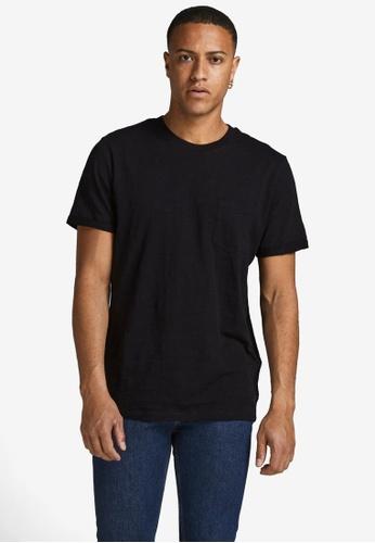 Jack & Jones 黑色 Blabeach素色 T恤 A5F62AA0081DA8GS_1