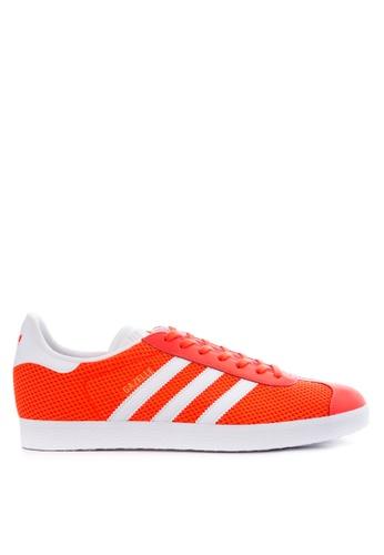 Adidas white and red adidas originals gazelle   AD678SH31NCIPH_1