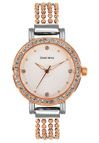 Christ Verra gold and silver Fashion Women's Watches CV 71019L-14 SLV 3161AACC13D643GS_1