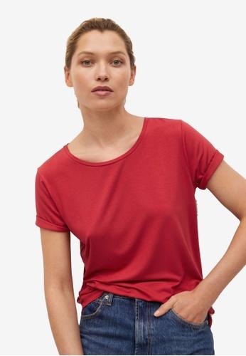 Mango 紅色 基本T-襯衫 6C56EAAF9EA65AGS_1