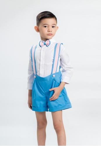 LASSIE & LADDIE blue Louis Suspender Shorts Set 5A67CKA06A1DC1GS_1