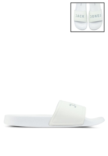 Jack & Jones white Larry Pool Sliders 59C4ASHB1918C5GS_1