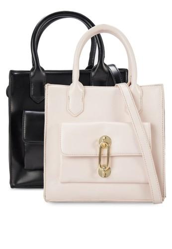 二入金飾仿皮方形手提包, 包, 手esprit台灣提包