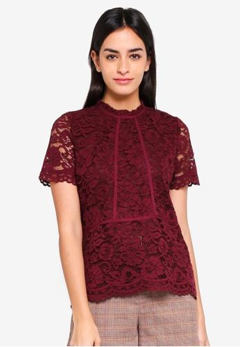 ESPRIT red Woven Short Sleeve Blouse 3BE10AAFBF27D0GS_1