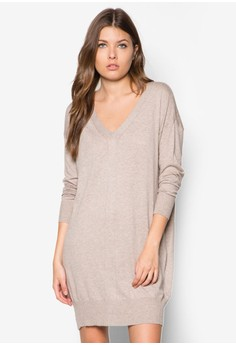 Knit Cotton-Blend Dress