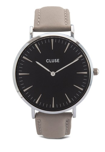La Bohèmeesprit hong kong 刻度真皮圓錶, 錶類, 皮革錶帶