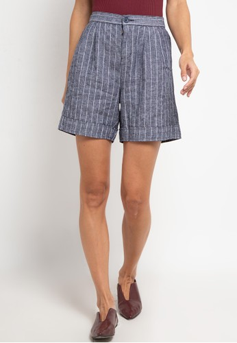 Giordano white Women's Linen Short (Relax Fit) 14E4CAA6F28700GS_1