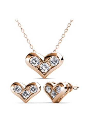 Her Jewellery gold Kolina Set (Rose Gold) -  Embellished with Crystals from Swarovski® CB327AC92D31D1GS_1