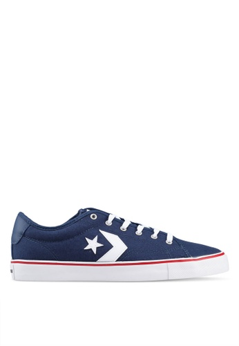 Converse 海軍藍色 Star Replay Star Of The Show Ox Sneakers D4F2DSH1DBE346GS_1