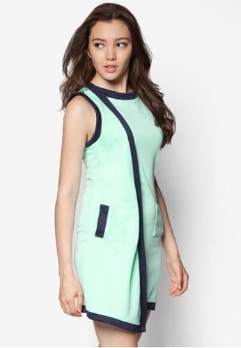 Cara 不對稱zalora 評價連身裙, 服飾, 洋裝