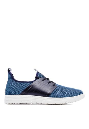 Life8 blue Lightweight Elastic Knit Casual Shoes-09246-Blue LI283SH32GNNSG_1