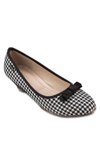 蝴蝶結千鳥紋楔形鞋, 女esprit outlet 高雄鞋, 厚底楔形鞋