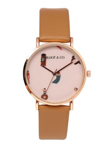 Milliot & Co. 米褐色 Angel 玫瑰金 手錶 9CB00ACC1D63AEGS_1