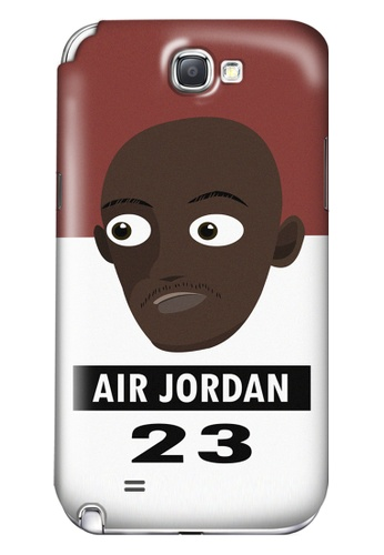 Wonder Cover black and white and brown and red Air Jordan Matte Hard Case for Samsung Galaxy Note 2 WO617AC93AEOPH_1