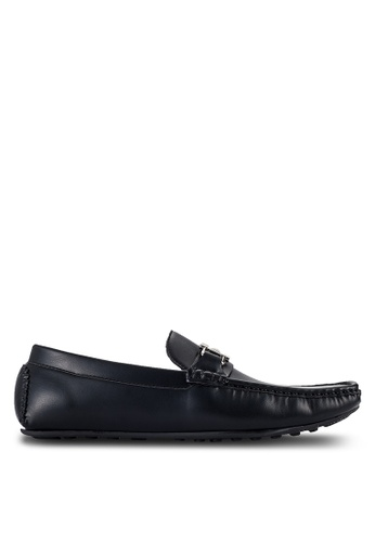 UniqTee black Loafers With Buckle Detail UN097SH82RQNMY_1