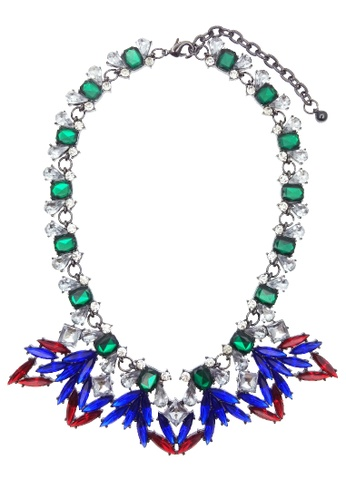 LUCCACAL red and green and blue Dina Necklace LU294AC62JXTMY_1