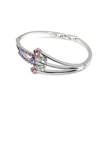 Glamorousky purple Elegant Bangle with Purple Austrian Element Crystal BBA5DAC00A08C0GS_1