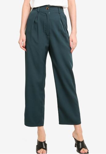 ZALORA WORK green Pleated Peg Leg Pants 2E83FAA750451CGS_1