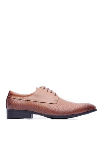 Life8 brown Formal Gentleman Leather Shoes-09616-Brown LI283SH0FFGWSG_1