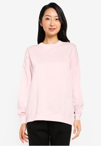 Cotton On Body pink Lifestyle Long Sleeve Crew Sweatshirt 2F311AA7C20E14GS_1
