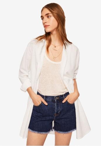 Mango white Striped Cotton Shirt 06A37AA04AB30EGS_1