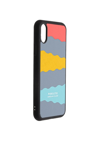POROLUXE grey PHONE CASE FOR IPHONE X 5F57AAC53C4F96GS_1