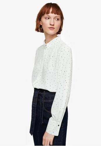 Mango white Printed Shirt 9C92CAA2D6DECFGS_1