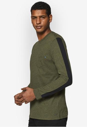 ESPRIT 綠色 長袖T恤 AA61DAA0946625GS_1
