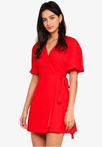 ZALORA red Wrap Dress 051F0AA7E17389GS_1