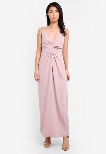 Preen & Proper pink Crossback Maxi Dress PR614AA0S9VOMY_1