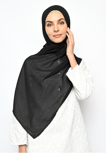 My Daily Hijab black Pasmina Cerutti Crochet Black B3332AA0387606GS_1