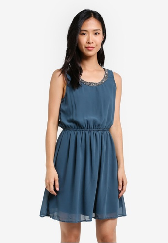 ONLY blue ONLY ONE Thea Sarah Dress Woven ON573AA0S42RMY_1