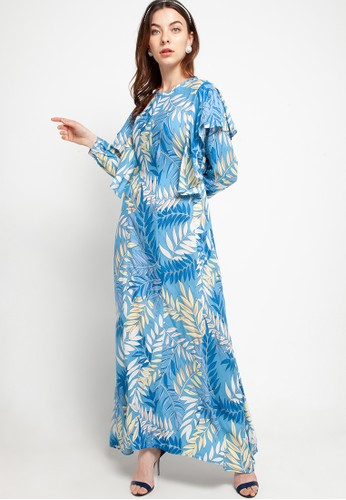 Covering Story blue and multi Laveya Dress - B C5FB1AAD47CDACGS_1