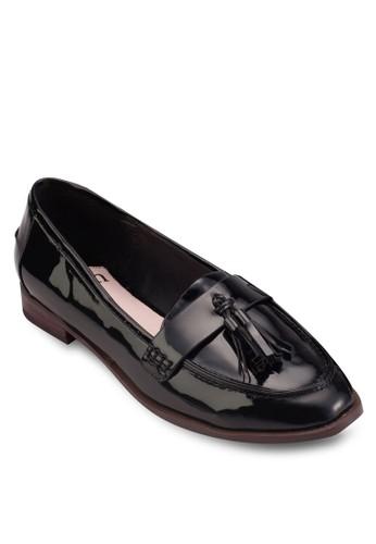 漆皮皮革esprit 會員流蘇樂福鞋, 女鞋, 鞋