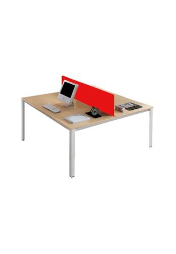 AMERCIS white Amercis Progue 1500L Office Table for 2 411B3HLEC89E1DGS_1