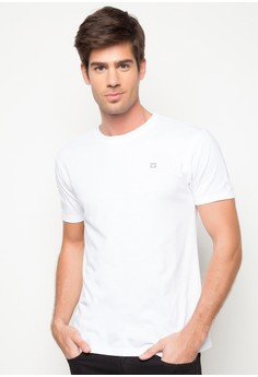 Men's Basic Tee with Contrast Back Yoke and Embro