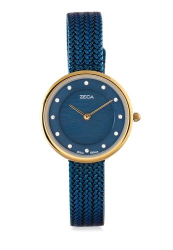 ZECA blue Zeca Watches Couple Ladies Fashion - 1001LP(2) Blue Gold 6E9ADAC2AE8828GS_1