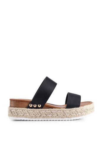 Call It Spring 黑色 Savannah Wedge Sandals 6A91DSH14ED529GS_1